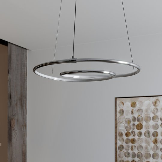 Lindby Lucy LED-riippuvalaisin, 45 cm, kromi