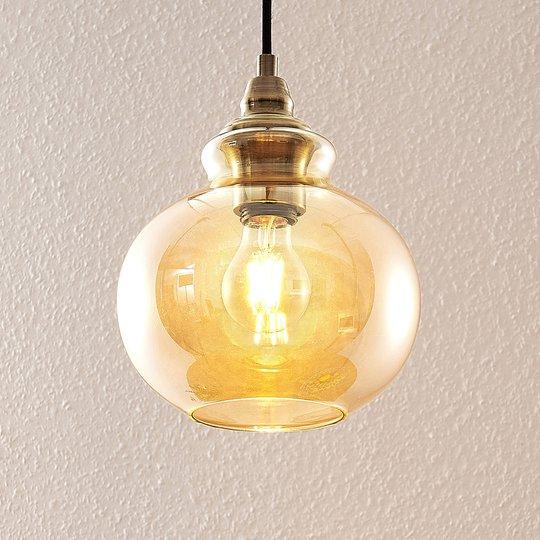 Lindby Tymoni -riippuvalaisin, 1-lamppuinen, lasia