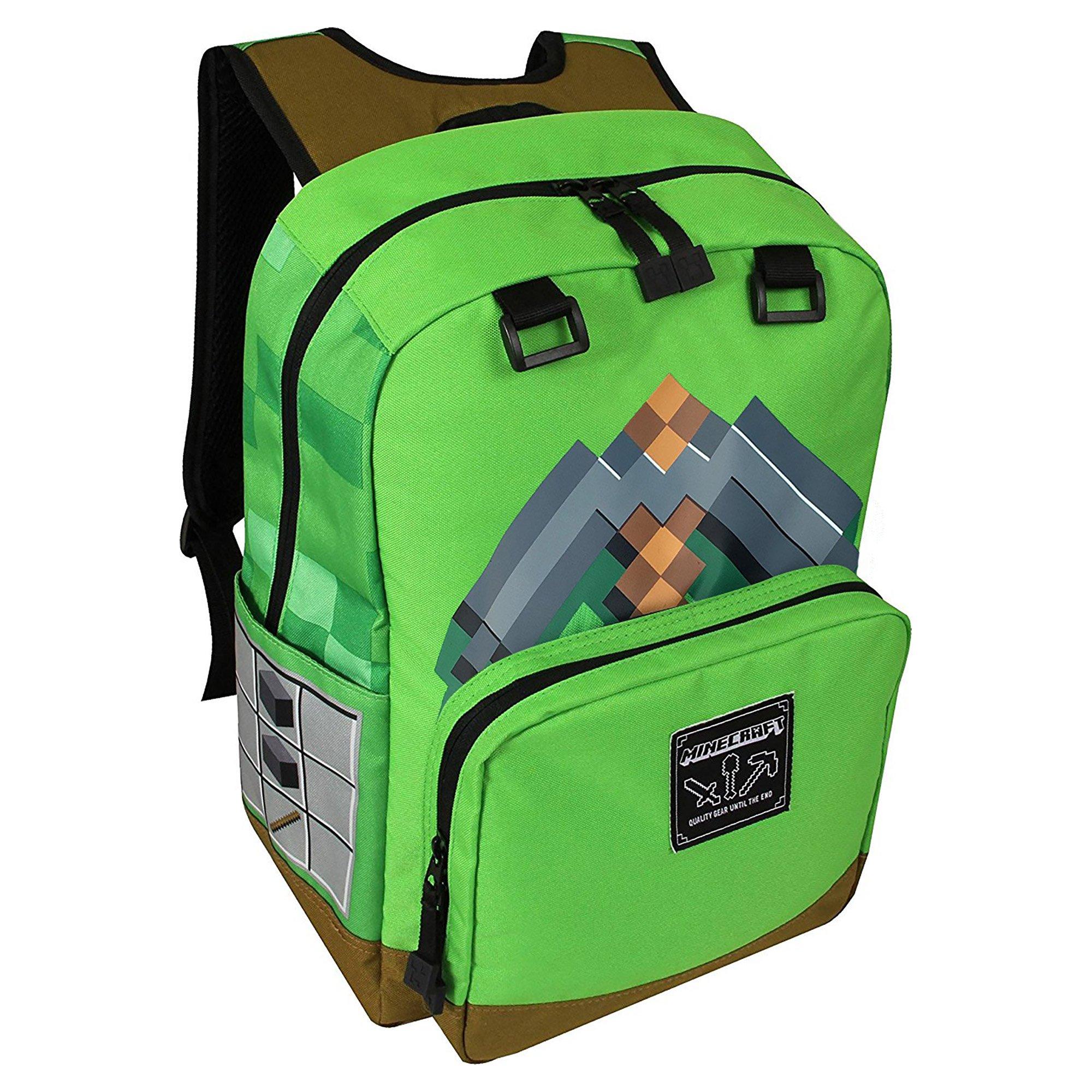 "Minecraft 17"" Pickaxe Adventure Backpack"