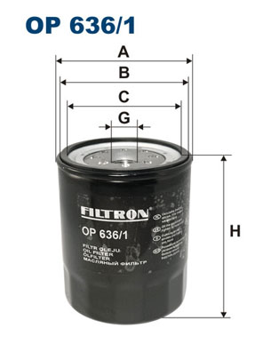 Öljynsuodatin FILTRON OP 636/1