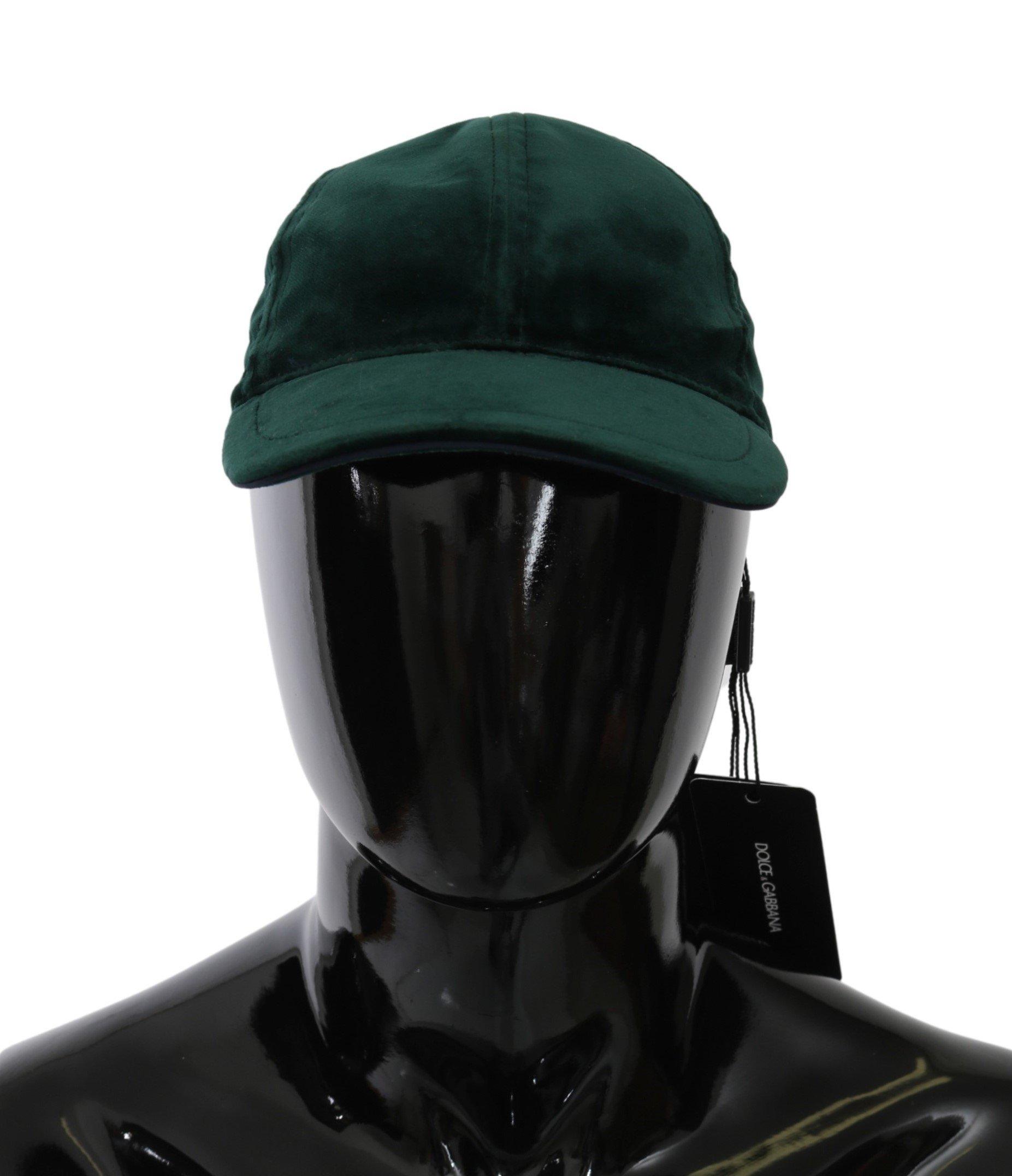 Dolce & Gabbana Men's Suede Baseball Cap Green HAT20071 - 57 cm|S