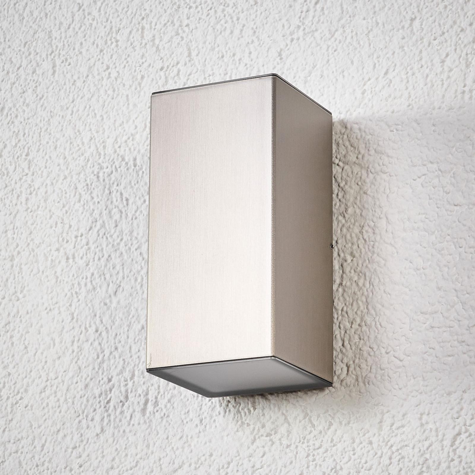 LED-ulkoseinälamppu Jana, ruostumaton, 16x8cm