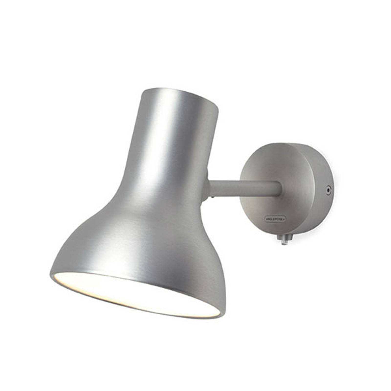 Anglepoise Type 75 Mini Metallic-seinälamppu hopea