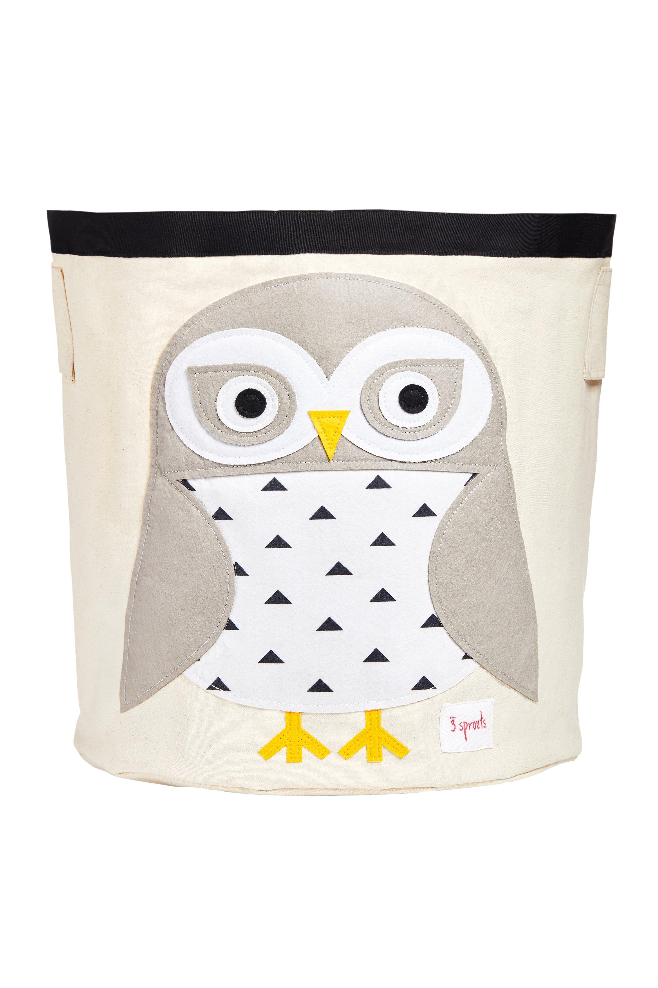 3 Sprouts - Storage Bin - White Snowy Owl