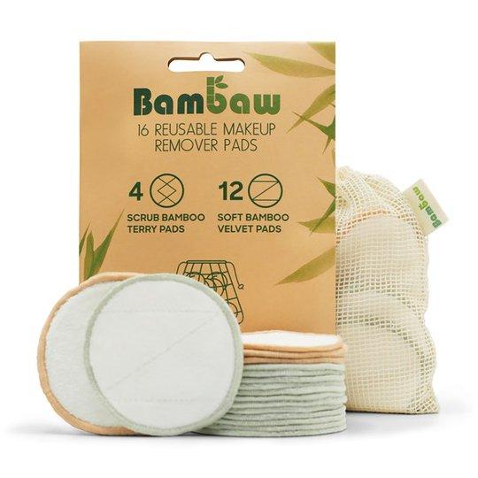 Bambaw Tvättbara Rengöringsrondeller, 16 st
