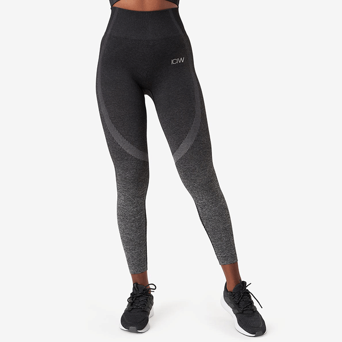 Ombre 7/8 Seamless Tights, Graphite Melange