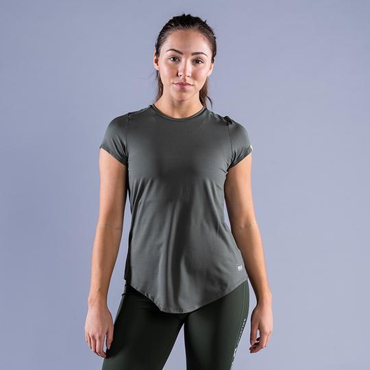 CLN Mel ws T-shirt, Moss Green