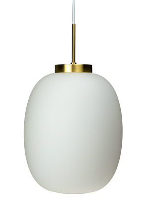 Dyberg-Larsen - DL39 Opal Pendant Lamp - Opal With Brass Suspension (8095)