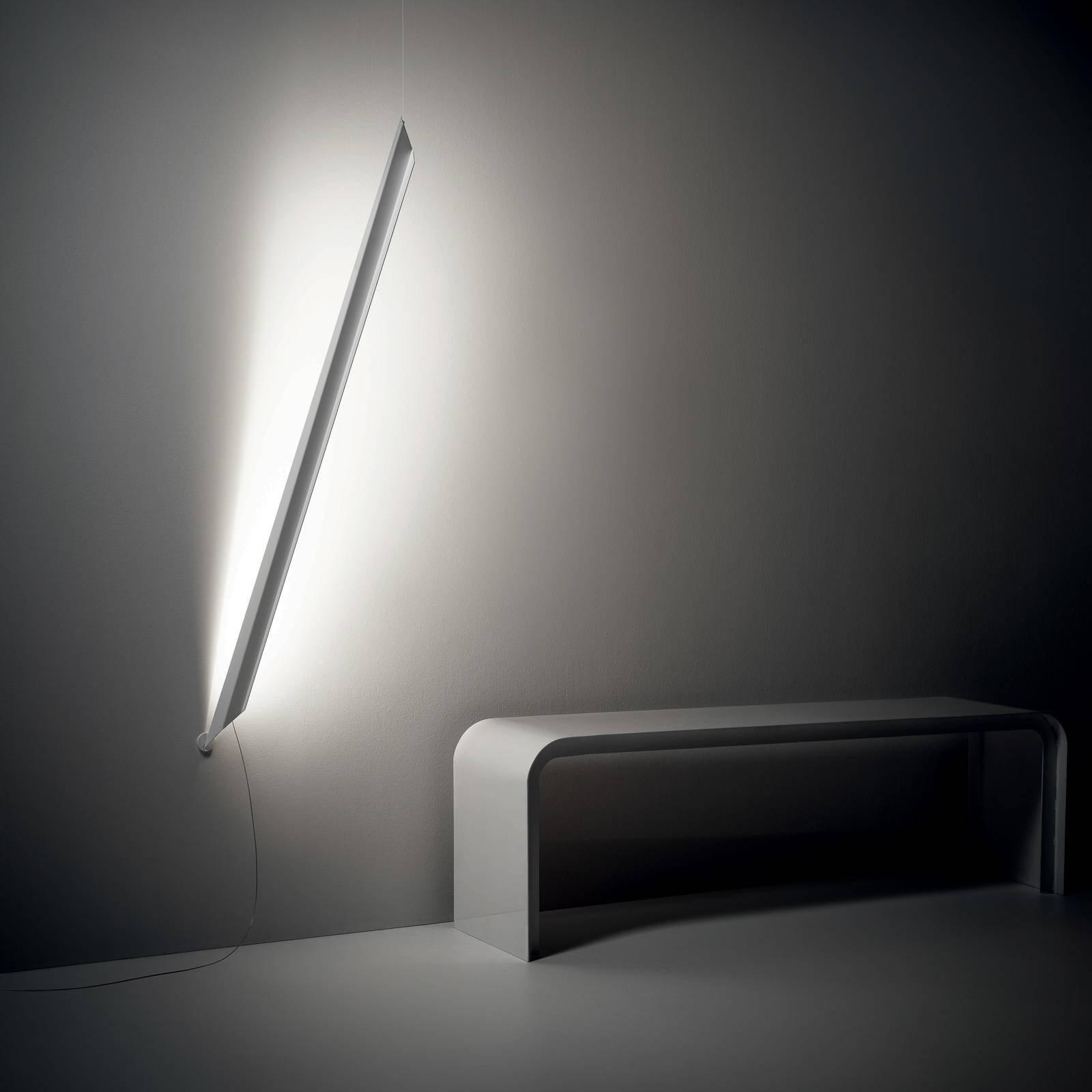 Knikerboker Schegge LED-vegglampe, hvit