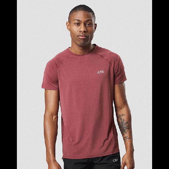 Workout Melange T-shirt, Burgundy Melange