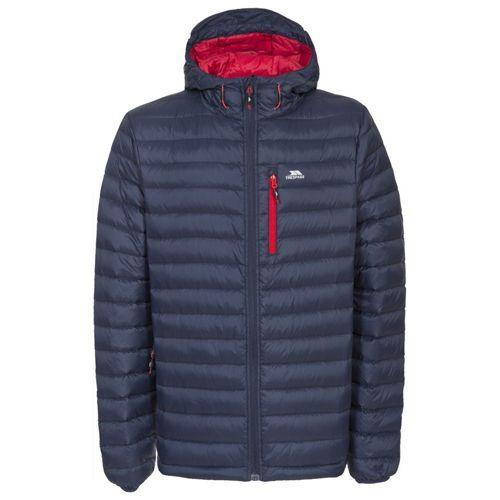 Trespass Unisex Packaway Down Jacket Various Colours Digby - Navy/Red S