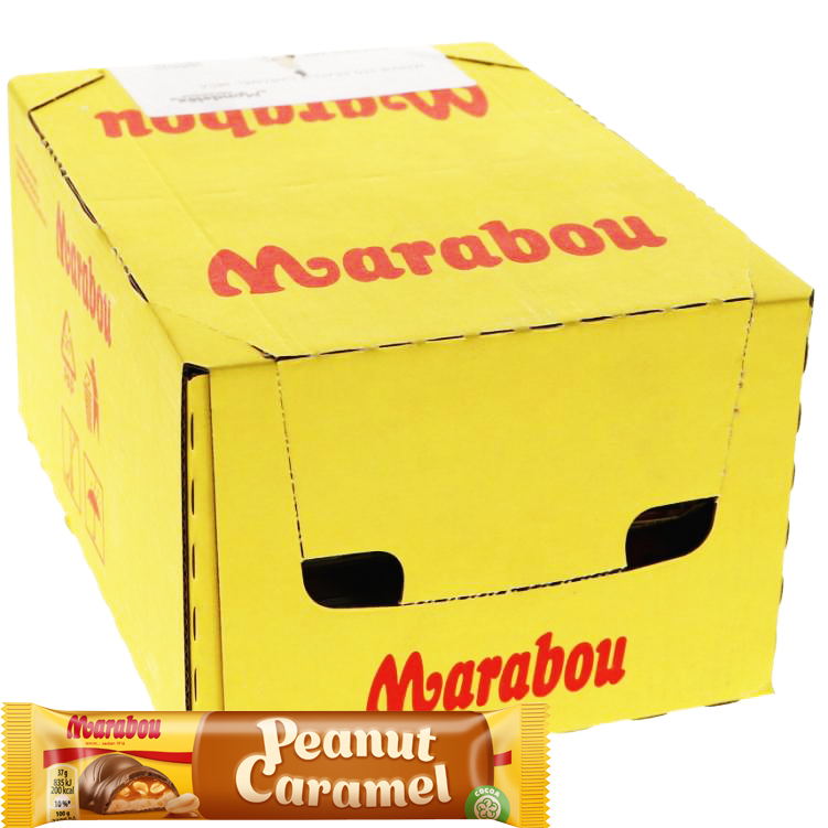 Laatikollinen Suklaapatukoita Peanut Caramel 36kpl - 40% alennus