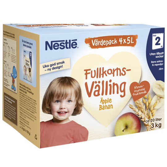 Barnmat Fullkornsvälling Äpple & Banan - 29% rabatt