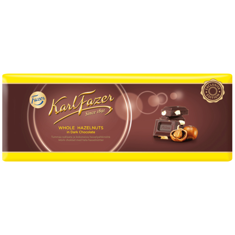 Suklaalevy Hasselpähkinä - 33% alennus