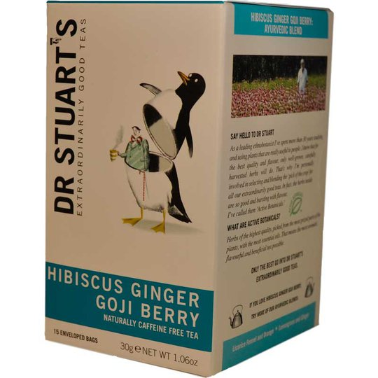 Hibiscus, ginger & goji te - 62% rabatt