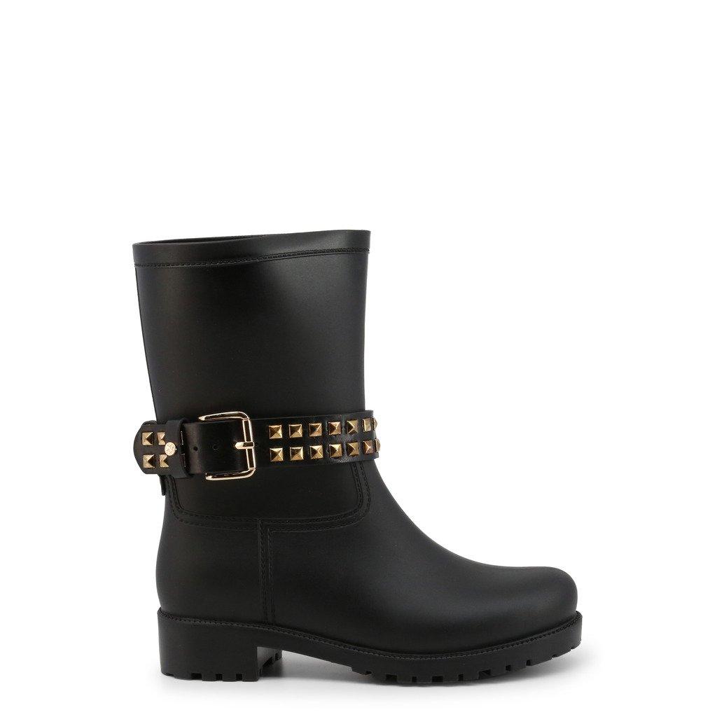 Roccobarocco Women's Boot Black RBSC1K001 - black EU 36
