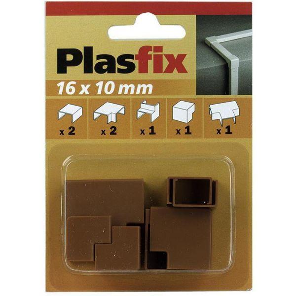 Plasfix 3420-9G Skjøte- og hjørnebiter til Plasfix, 16 x 10 mm Teakfarget