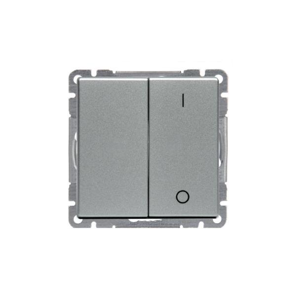 ABB Impressivo Strømstiller 2 + 1 pol Aluminium
