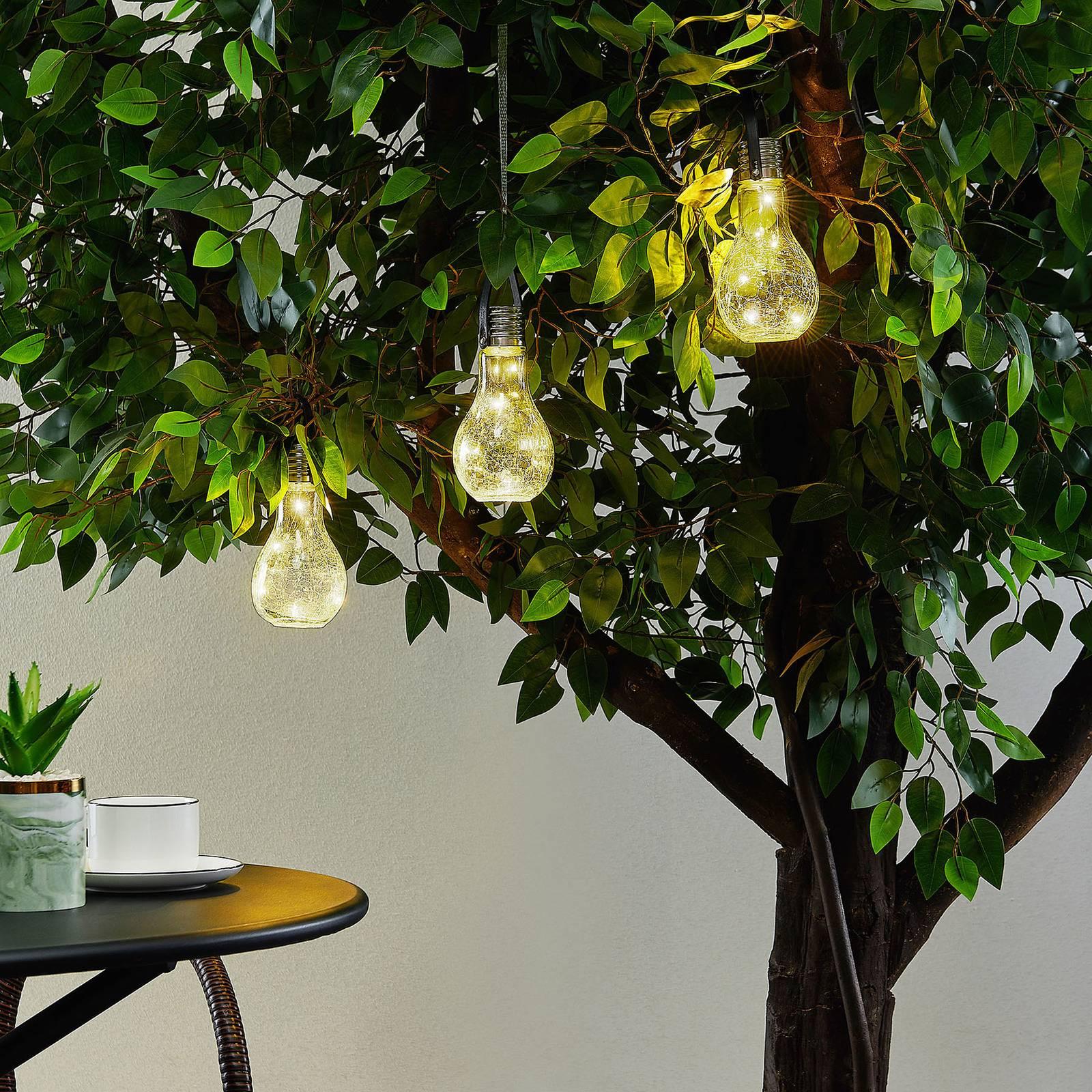 Lindby Shams aurinkokäyttöinen LED-lamppu, 3 kpl