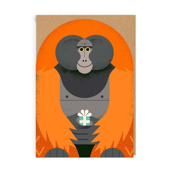 Birthday Orangutan Greeting Card