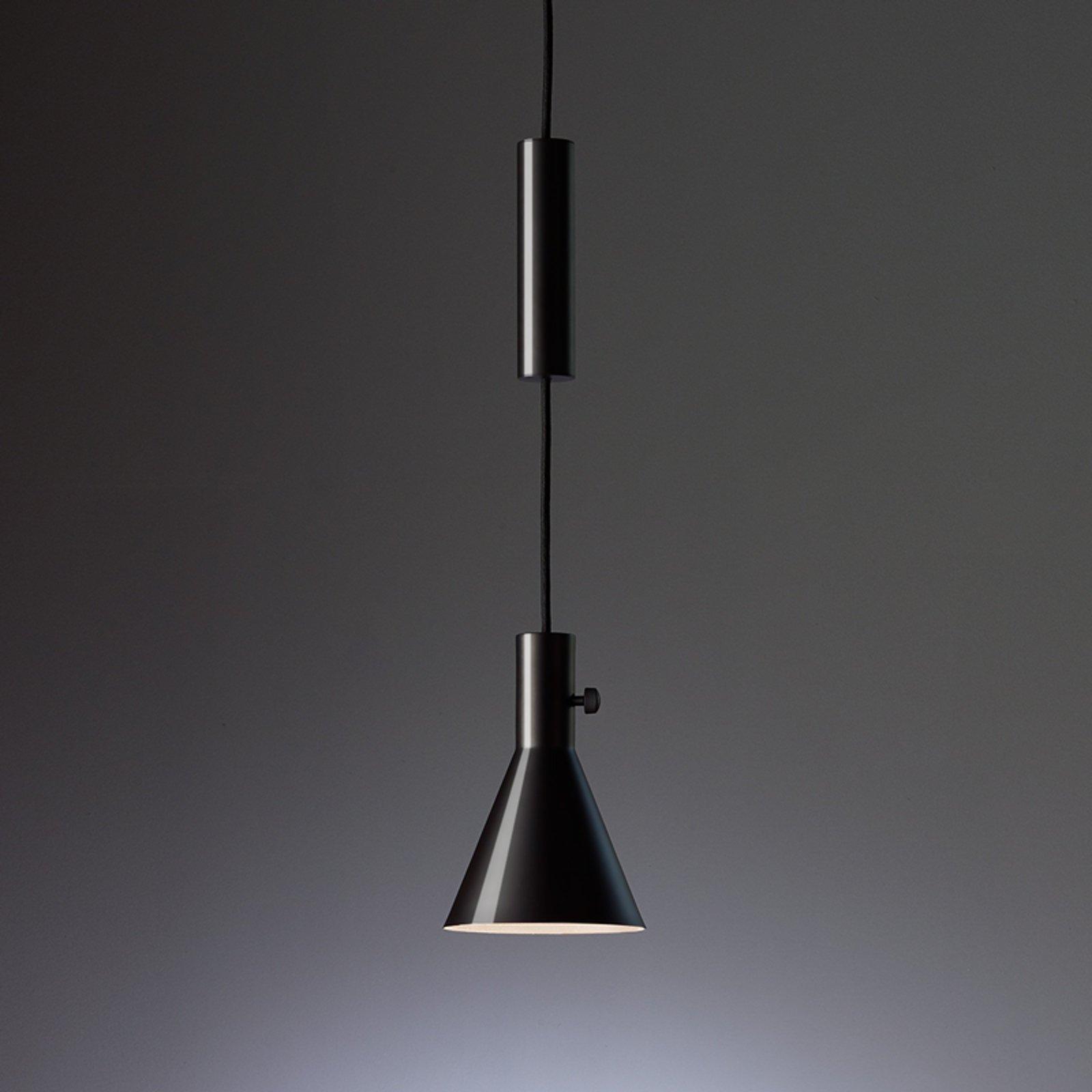 Eleu - skinnende svart LED pendellampe