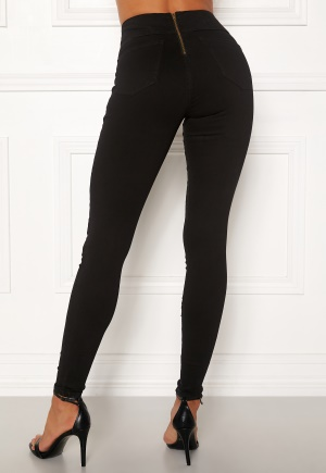Happy Holly Lyra zip pants Black 48S