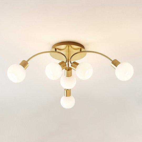Lindby Tancerdi -LED-kattovalaisin messinkiä
