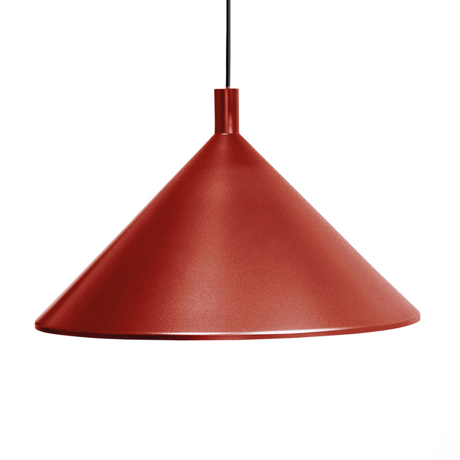 Martinelli Luce Cono -riippuvalo, punainen Ø 30 cm