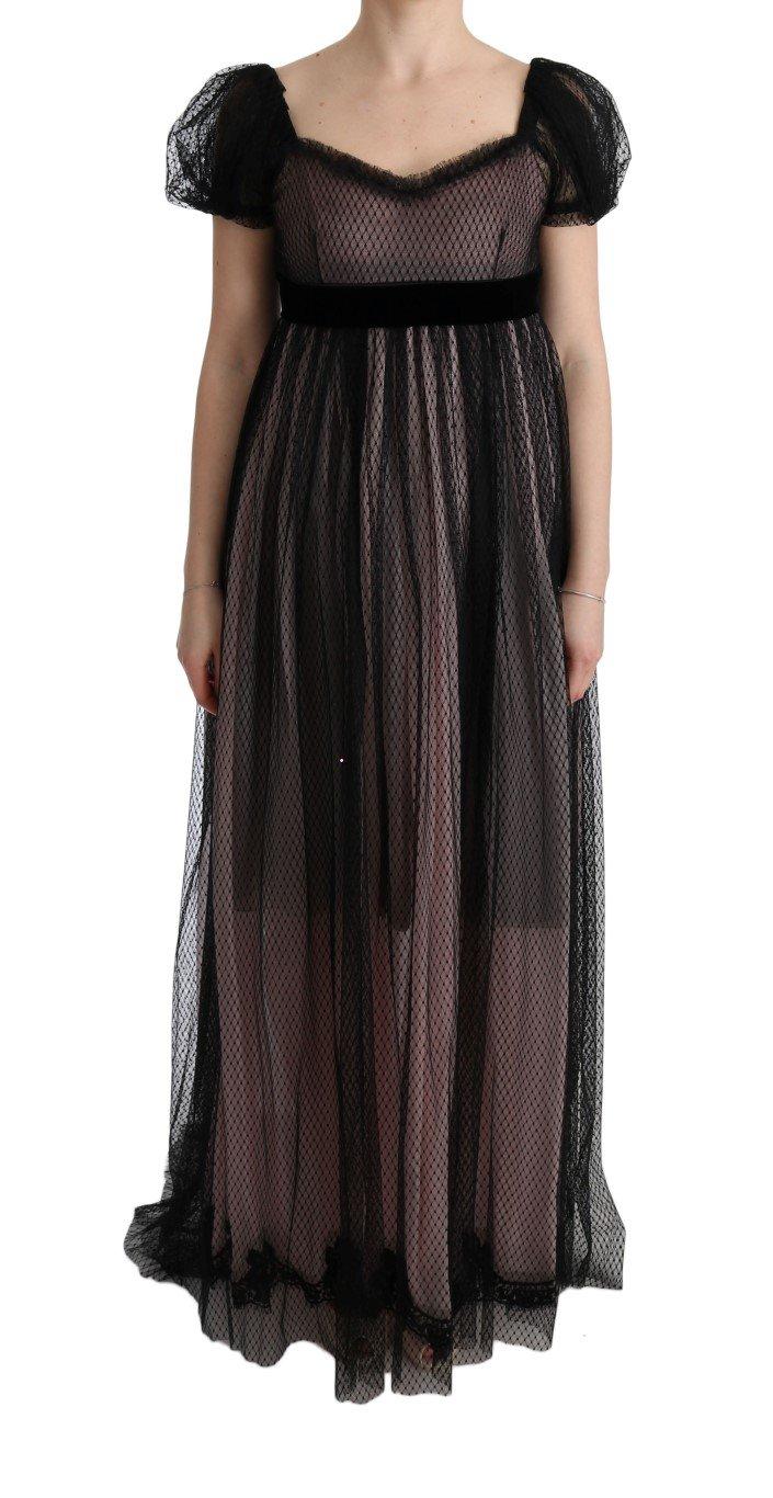 Dolce & Gabbana Women's Silk Long Shift Dress Pink SIG60594 - IT40|S