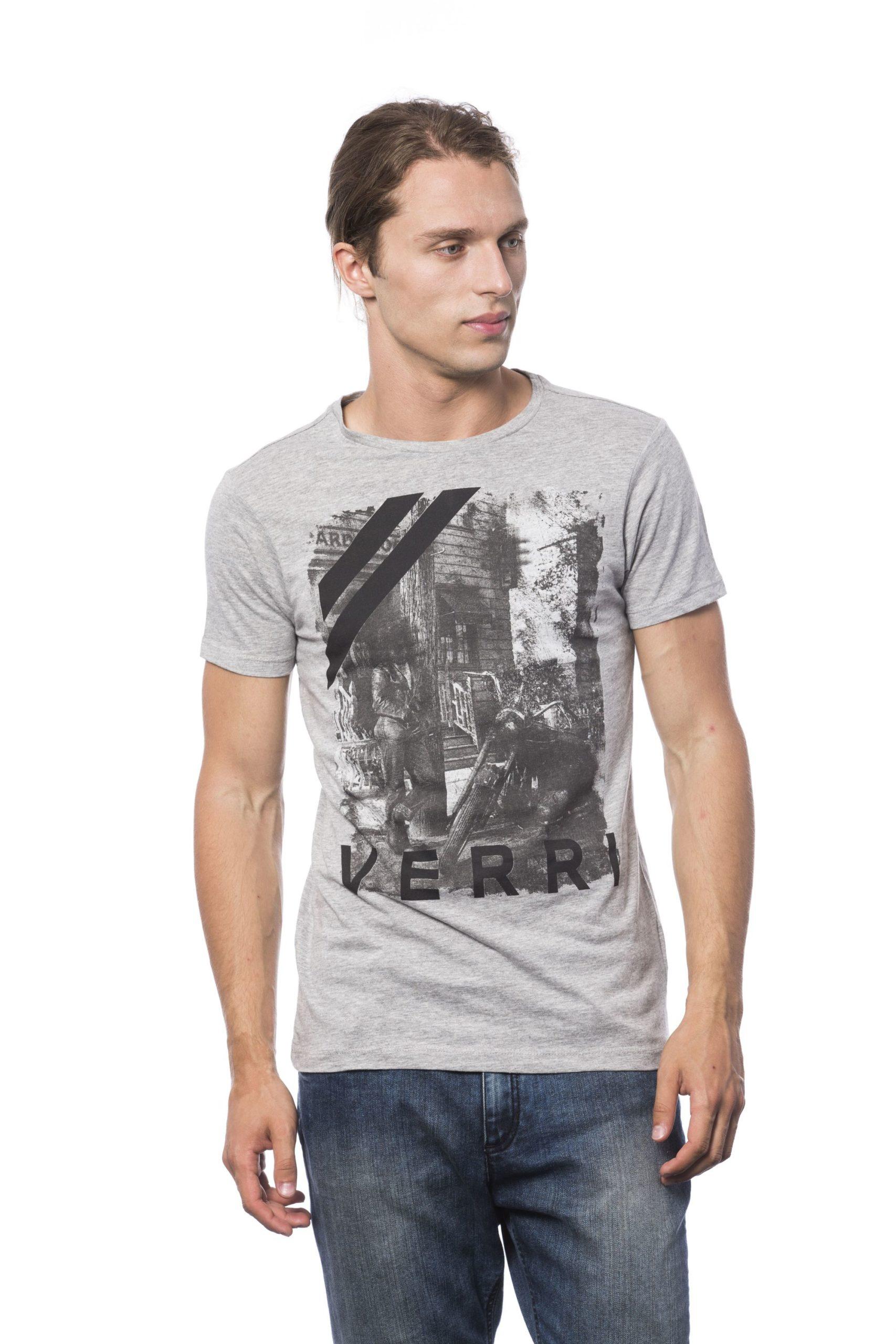 Verri Men's Grigio Ml Grey Ml T-Shirt Gray VE686099 - S