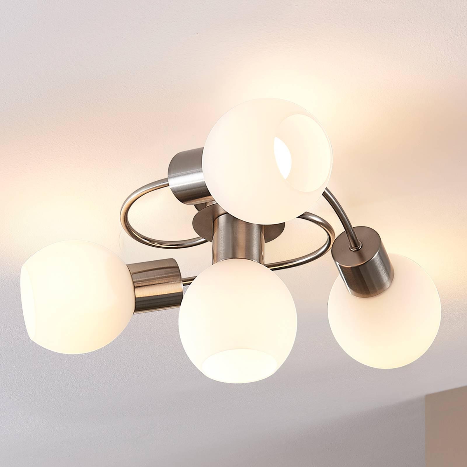 LED-kattovalaisin Ciala, 4-lamppuinen, nikkeli