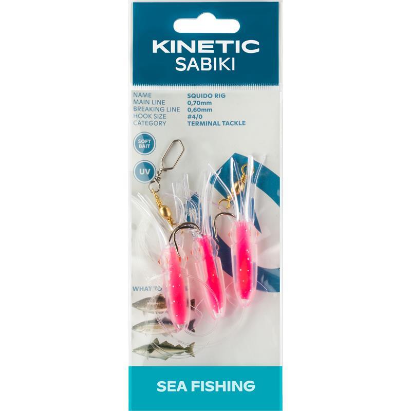 Kinetic Sabiki Squido #4/0 Hot Pink