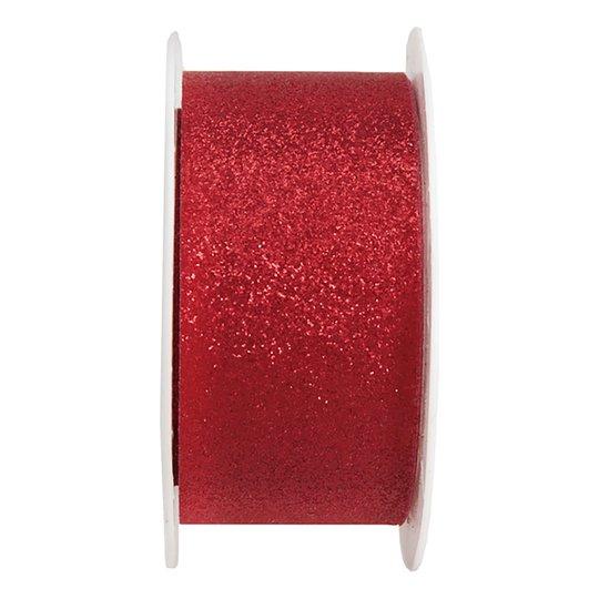 Dekorationsband Röd Glitter