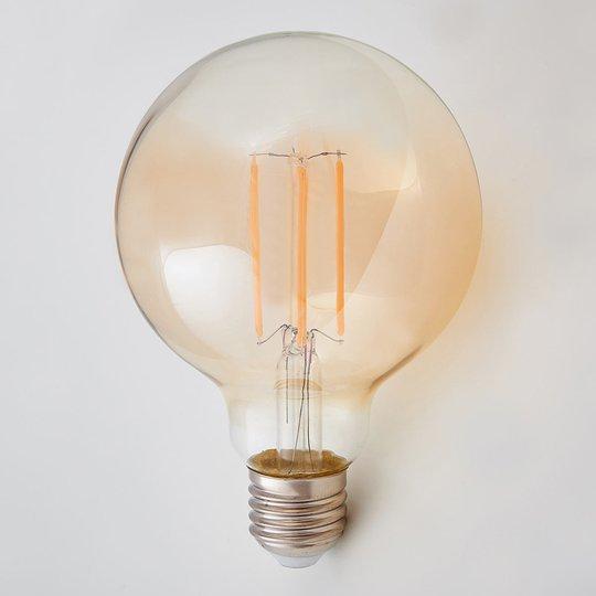 E27-LED-pallolamppu 6 W, 500 lm, ambra, 2 200 K