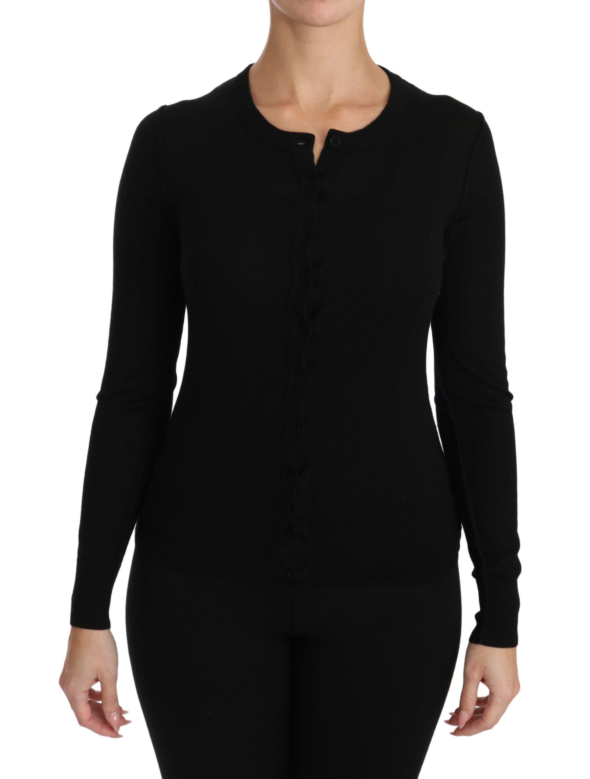 Dolce & Gabbana Women's Button Wool Cardigan Black TSH3027 - IT40|S