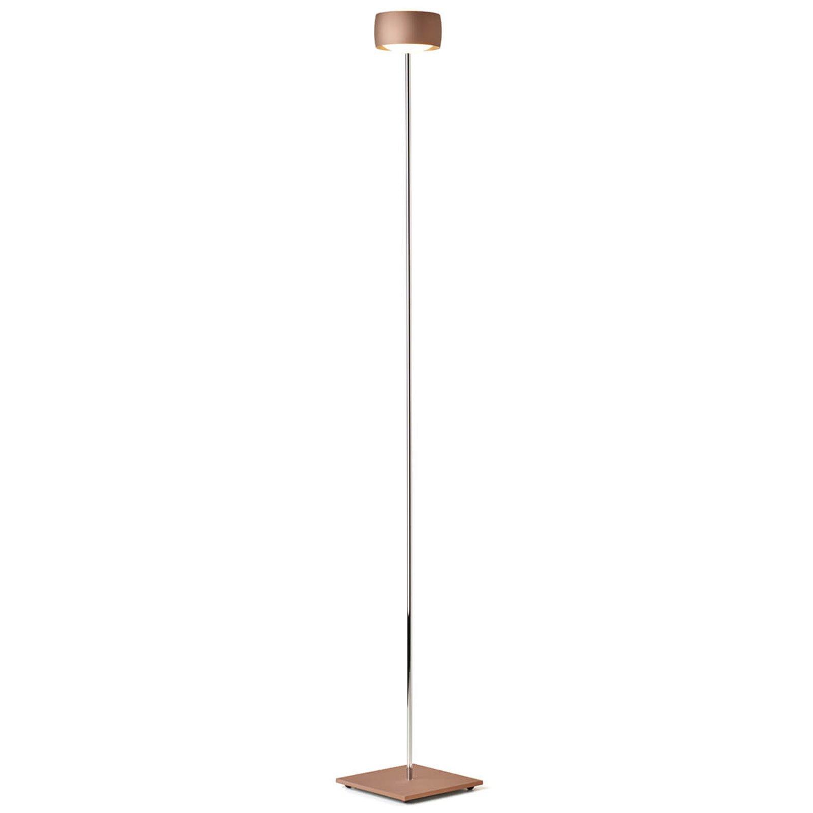 LED-gulvlampe Grace med bevegelsesstyring kobber