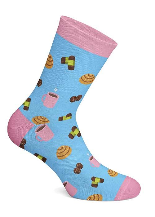 Swedish Fika Socks Fika-motiv
