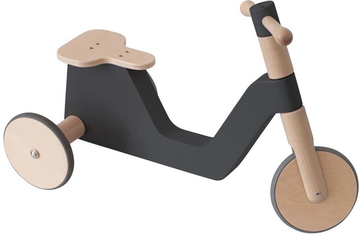 Sebra Sparkcykel I Trä, Svart