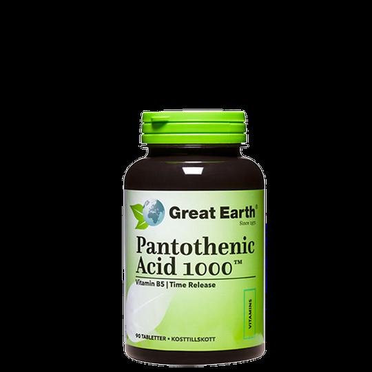 Pantothenic Acid, 1000 mg, 90 tablettia