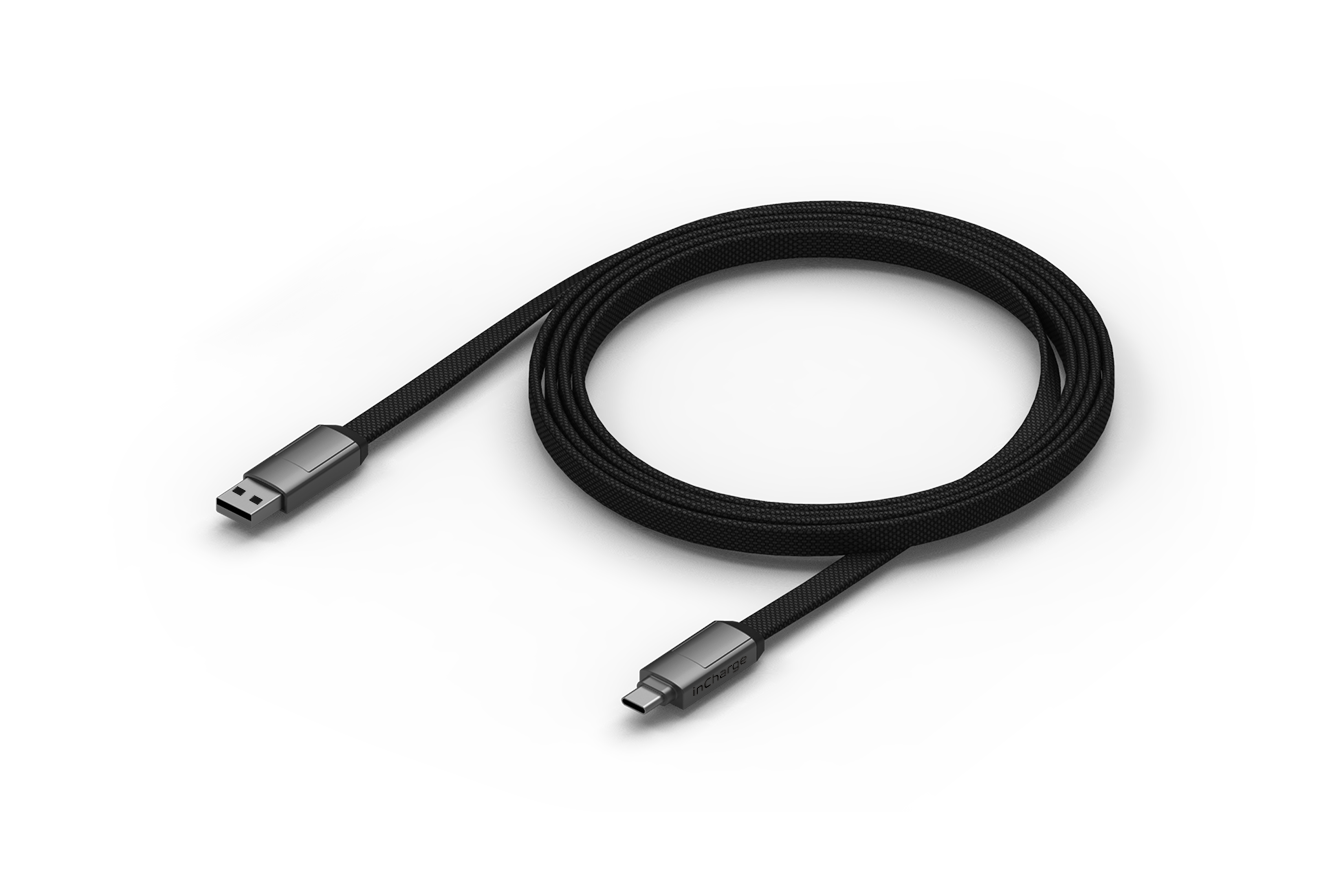 InCharge 6 Max Mercury Grey (1,5m)
