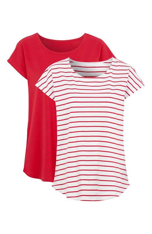 Cellbes T-Shirt 2-Pack Röd Vit