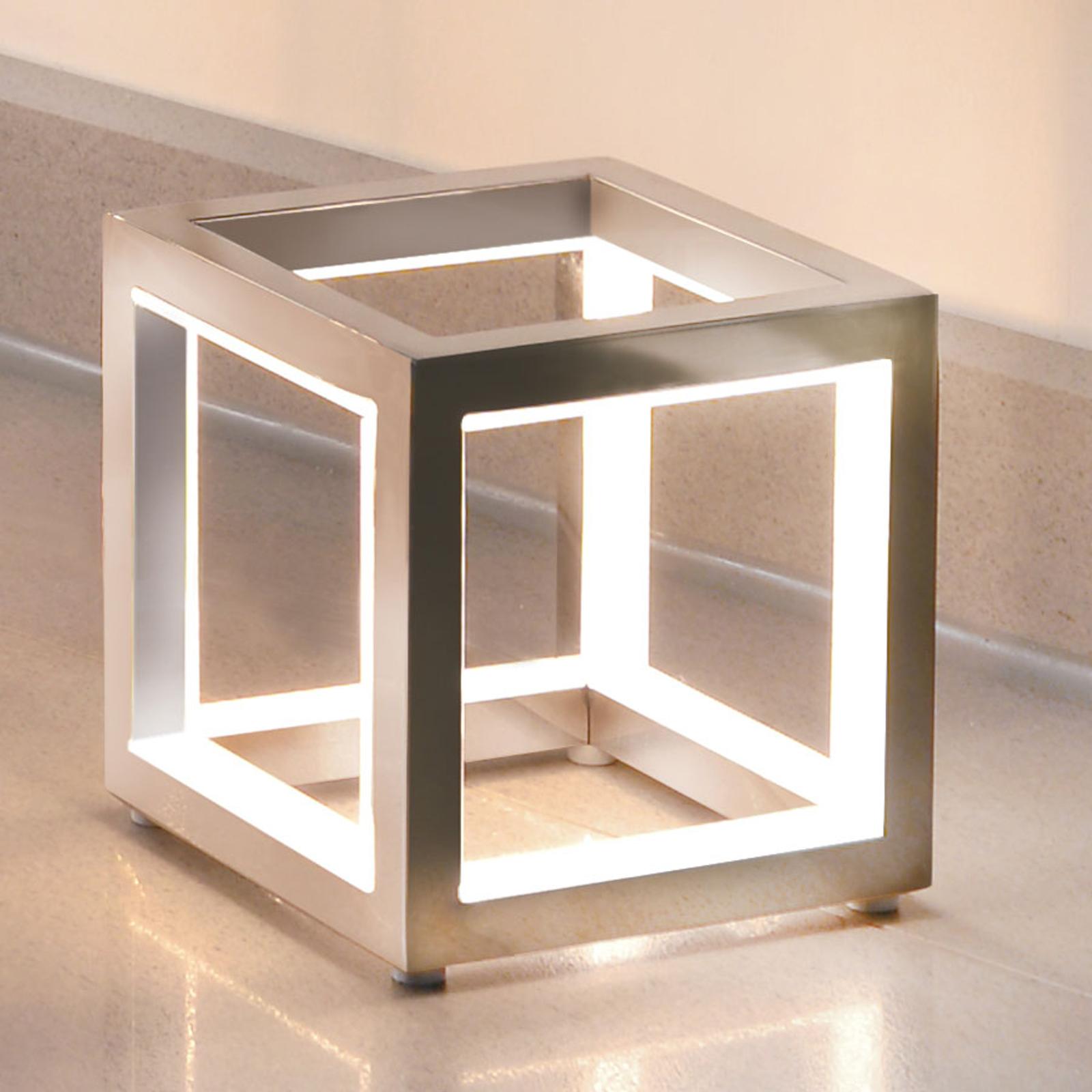 Delux - LED-pöytälamppu kuutiomuodossa alu 12cm