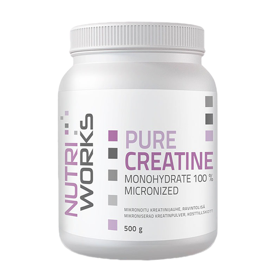 Pure Creatine monohydrate 100%, 500 g, Natural