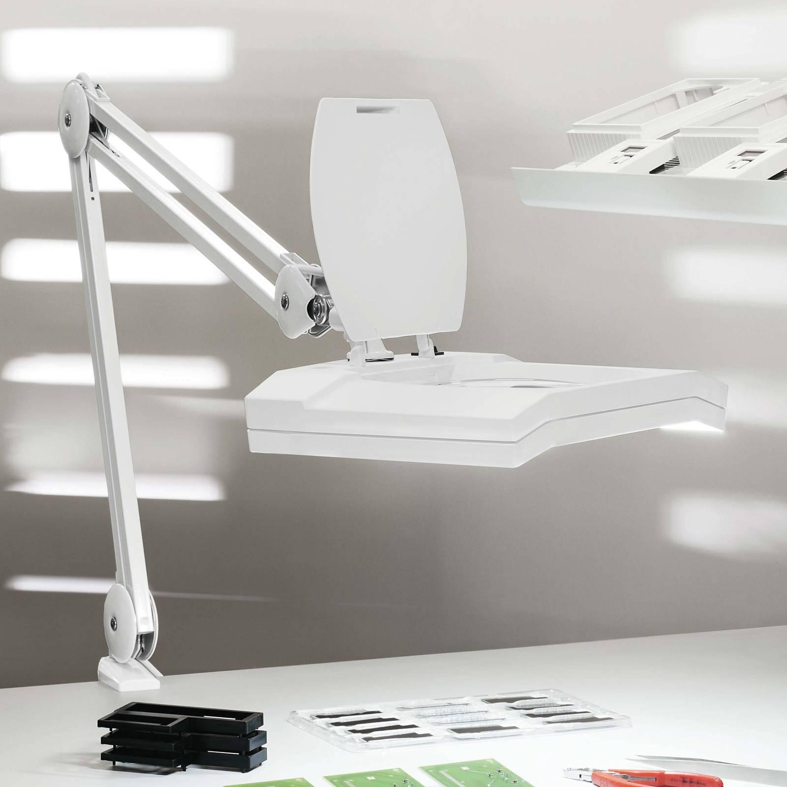 LED-suurennuslasivalaisin MAULvitrum, valkoinen