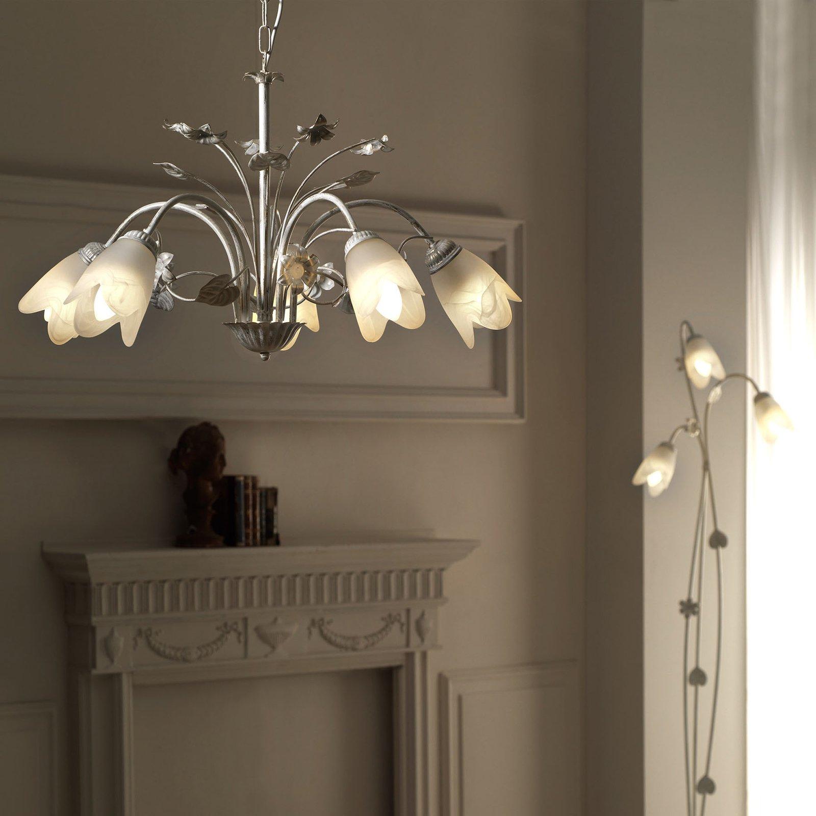 Florentiner gulvlampe Petunia, 3 lyskilder