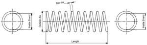 Jousi (auton jousitus), Taka-akseli, MERCEDES-BENZ C-KLASS [W203], CLC-KLASS [CL203], CLK [C209], E-KLASS [W210], 2103243404