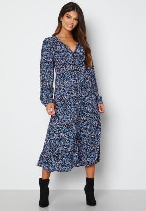 ONLY Tanny L/S Midi Dress Campanula City Leafy L