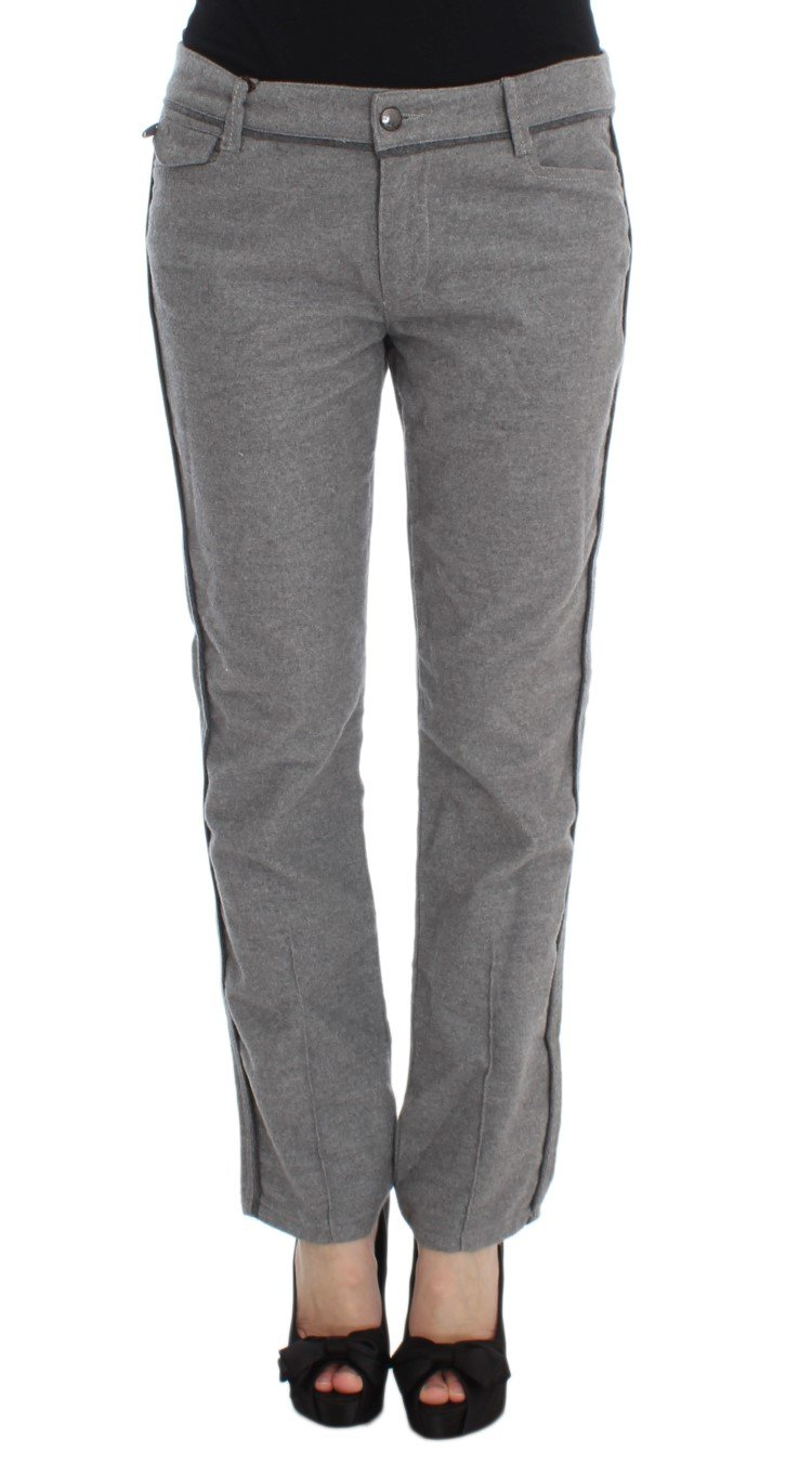 Ermanno Scervino Women's Straight Fit Trouser Grey SIG30297 - IT38 XS