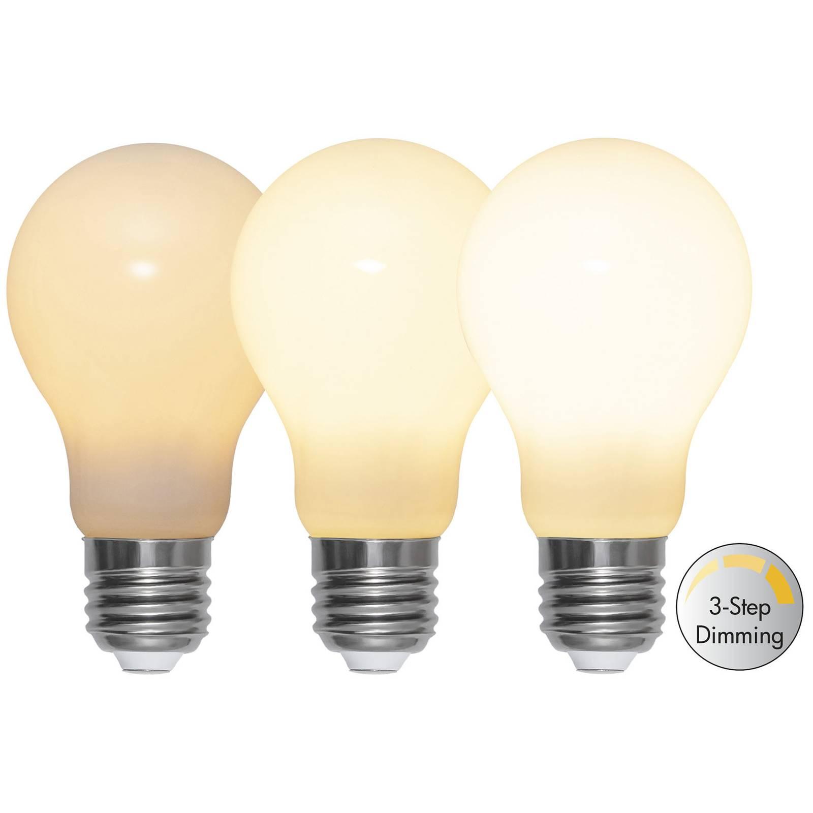 LED-lamppu E27 A60 6,5W 600lm 3-step-dim, opal