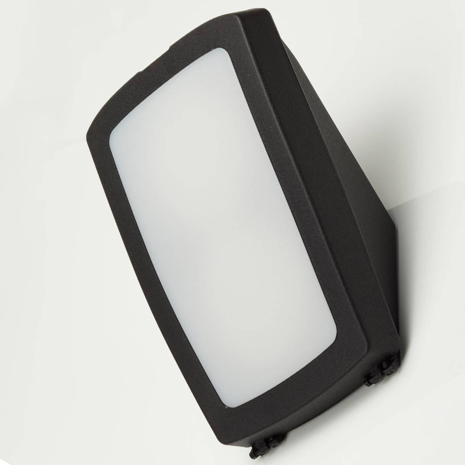 Utendørs LED-vegglampe Germana, svart, 2 x 7 W CCT